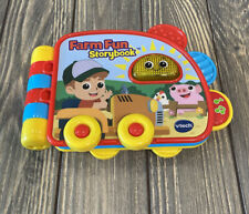 VTech Farm Fun Storybook Light Up Interactive Baby Toddler Toy Farm Animals Pig