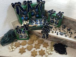 Weihnachtsbaumschmuck Christbaumschmuck Konvolut inkl. Holzfiguren/Perlenketten/