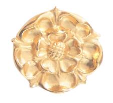 Rose Tudor épinglette en or plaqué étain anglais