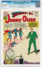 SUPERMAN'S PAL JIMMY OLSEN #63 1962 CGC 9.4 NM LEGION SUPER VILLAINS + SUPERGIRL