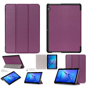 Huawei MediaPad T5 & T3 Smart Folio Magnetic PU Leather Stand Tablet Case Cover
