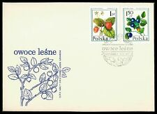 POLEN FDC 1977 FLORA FRÜCHTE BEEREN BEERE FRUITS BERRY BERRIES cf81