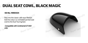 """Royal Enfield  """"DUAL SEAT COWL BLACK MAGIC"""" For Continental GT 650"""