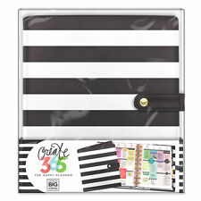 Create 365 The Classic Happy Planner™ Deluxe Cover- Black & White Stripes