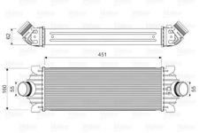 Ladeluftkühler VALEO 818644 für FORD