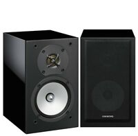 Onkyo Black D-175 2-Way Bass Reflex 120W Passive MDF Wood Bookshelf Speakers