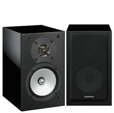 Onkyo Black D-175 2-Way Bass Reflex 120W Passive MDF Wood Bookshelf Speakers