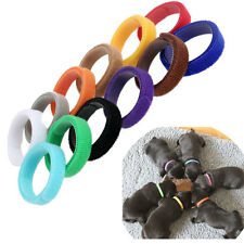 12 Colors ID Collars Bands Adjustable Puppy Kitten Newborn Pet Litter Magic Tape