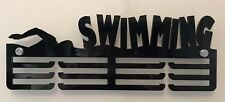 Thick 5mm Acrylic 3 Tier SWIMMING Medal Hanger / Holder / Rack With Standoffs