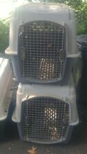 O15 Dog Travel Pet Kennel Crate Cat Cage Carrier Large Portable Plastic Airline