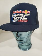 Redbull GRC Global Rallycross hat SnapBack trucker hat mesh blue gives you wings