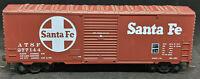 Roundhouse HO Santa Fe ATSF #277144 40' AAR Boxcar, BROWN, VINTAGE
