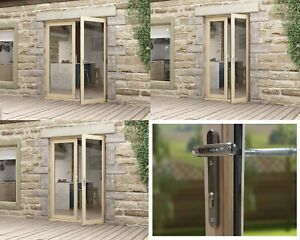 Solid Oak French Doors with High Security Laminated DG Units - Various Sizes