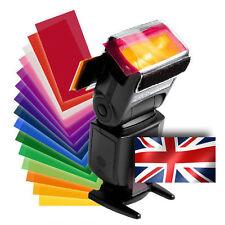 Strobist Colour Lighting Flash Gels & Hook & Loop Speedlite Holder Set