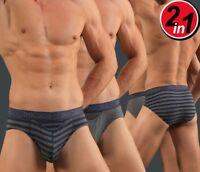 New HOM Mens underwear mini briefs slip HO1 Boxerlines cotton 400727 2 Pack SALE