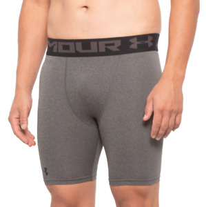 Under Armour Shorts Mens Large Fitted DFO Grey Base Layer Heatgear Shorts New