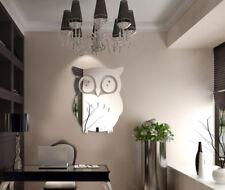 3D Owl Mirror Vinyl Removable Wall Sticker Decal Home Decor Art Birds