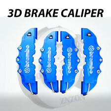 4pcs Blue 3D Disc Brake Caliper Cover Kit For Mercedes-Benz C200 C300 CLS SL AMG