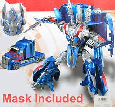 Light Up Transformer + Massk Set Car Prime Autobot Blue Truck Toy Action Sound
