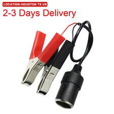 US Location 12V Car Battery Alligator Clamp Cable Cigarette Lighter Adapter