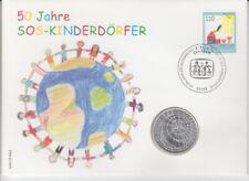 Numisbrief Germany 10 DM Silver Sos Children's 1999