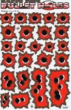 "D06 Shoot Bullet red Racing Tuning Sticker Decal 1 Sheet 10,5""x7"" / 27x18 cm"