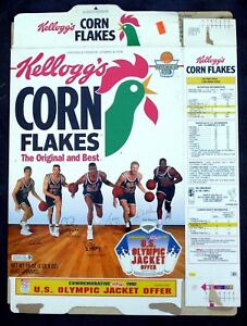Kellogg's Corn Flakes Flattened Cereal Box David Robinson 1993 Olympic Jacket