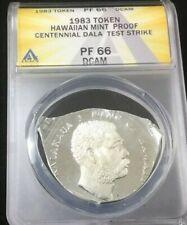Hawaiian Mint DIE SET UP TEST STRIKE Hawaiian King Kalakaua Proof DALA PF-66
