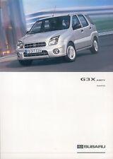 Subaru G3X Justy Zubehör Prospekt 10 03 brochure 2003 Auto PKWs Autoprospekt