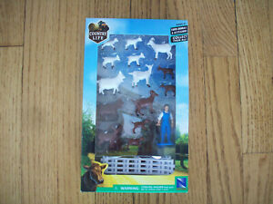 New in Box Country Life Farm Animals & Accessories Farmer, Fence and Animals