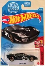 2021 Hot Wheels - FORD GT40 GUMBALL 3000 - BLACK 78/250 - THEN & NOW 1/10