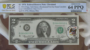 12 District Set $2 Federal Reserve Note$ With a PCGS Graded FR Choice UNC 64 PPQ