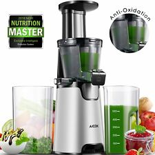 Juicer Slow Masticating juicer, cold press juicer with 150W Quite Motor for High
