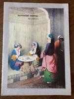 Restaurant Konyalivintage menu Istanbul from the Palace of Topkapi