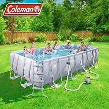Coleman 18ft Power Steel Rectangular Above Ground Swimming Pool Set 18x9x4' NEW