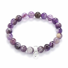 Authentic Amethyst Gemstone Charm Bracelet