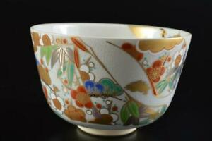 L5429: Japanese Kiyomizu-ware TEA BOWL Green tea tool, auto Tea Ceremony