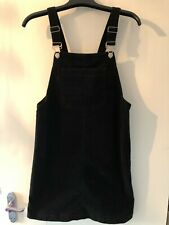 Ladies Pinafore Dress Size 10 Black Womens Clothing Casual Cord Dresses (TU) NEW