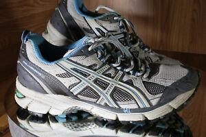 Asics Gel Kahana Trail Running Shoes Gray T0E5N Low Top Women's 9.5, EU41.5 EUC