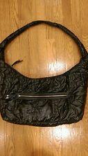 Express woman's nylon quilted  soft hobo shoulder bag handbag preowned
