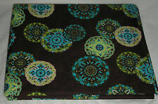 LONGABERGER SISTERS  FABRIC ADORN 5 YARDS BUNDLE NEW LIGHT WEIGHT BROWN TURQUOIS