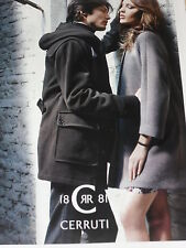 PUBLICITE ADVERTISING  2012  CERRUTI 1881 manteau duffle coat