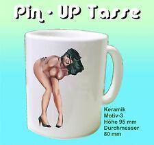 Pin Up Erotik Kaffee Tasse für harte Männer und Junggesellenparty Geschenkidee