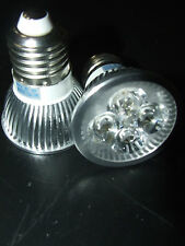 LAMPADA SPOT 4 LED DA 1WATT ATTACCO E27  220VOLT BIANCO CALDO 2 PEZZI