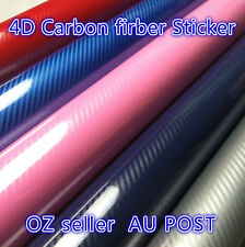 4D Carbon Fiber Vinyl Wrap Film Car Vehivle DIY Sticker Sheet Decals Roll