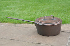 Antique copper pan large old copper saucepan pan with lid - FREE DELIVERY
