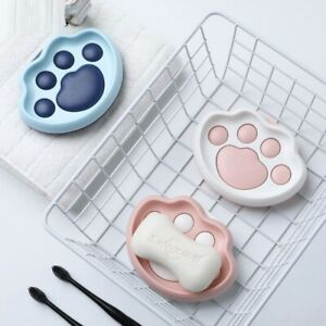 Cartoon Dog Paw Soap Dish Strong Wall Mounted Drain Holder Bathroom Accessories