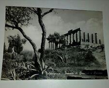 Cartolina  Agrigento ,Templo de Junon et Lacinia