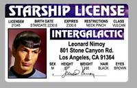 Mr. Spock Star Trek Movie Novelty Drivers License ID Card Leonard Nimoy Vulcan