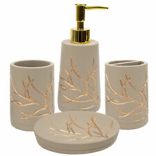 Branches Bath Accessory Collection 4 Piece Bathroom Set